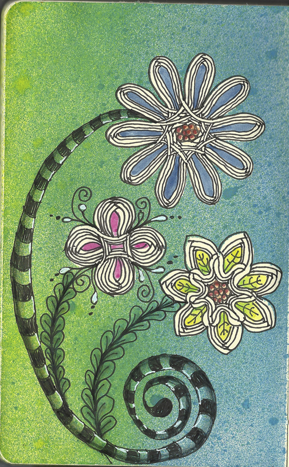 create stenches finished journal page