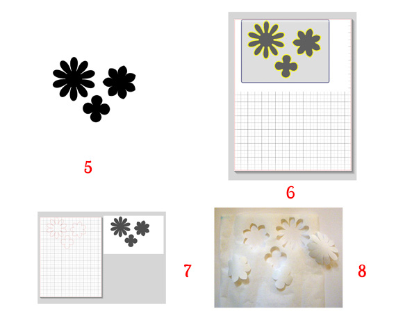 print and cut shapes with silhouette
