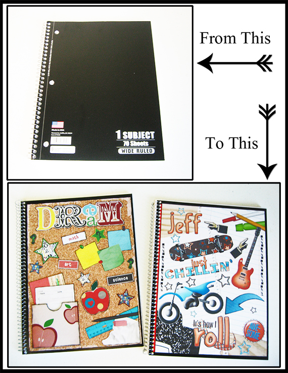completed personalized notebooks