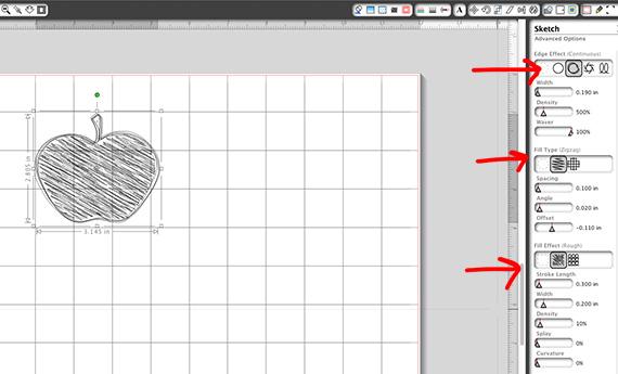 sketch fill
