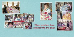 subjects facing center of page