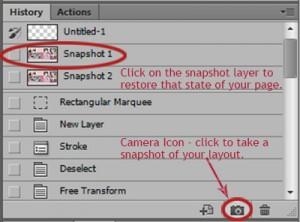snapshot tool in photoshop