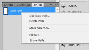 stroke a path
