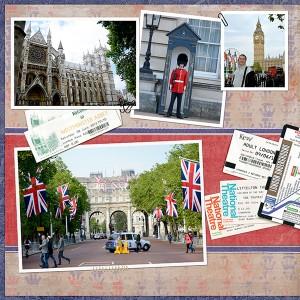 travel digital scrapbook page left