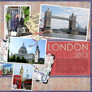 travel digital scrapbook page right