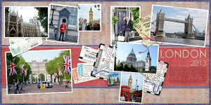 scanned travel digital scrapbook layout