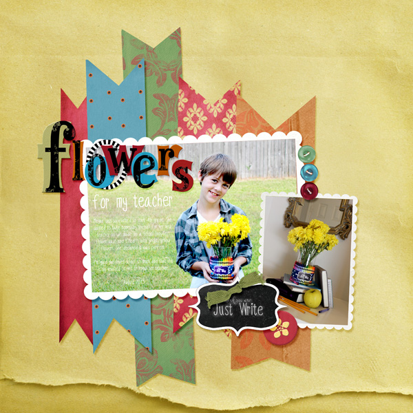 back to school gift digital layout