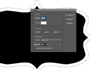 add a stroke to label shape