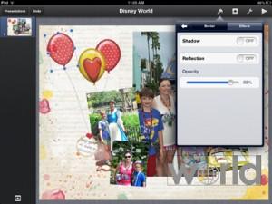 rotate photo in keynote on ipad
