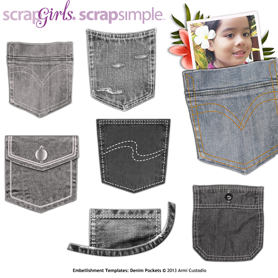 denim pocket digital embellishment templates