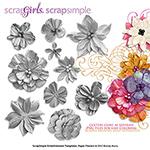 paper flowers digital embellishments
