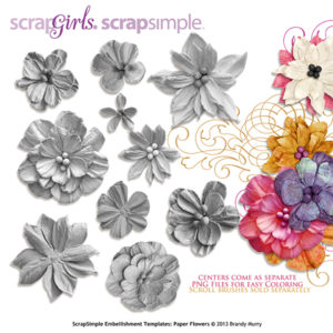 Embellishment Template Paper Flowers