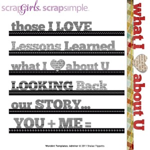admirer digital word art templates