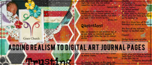 Adding Realism to Art Journaling Pages