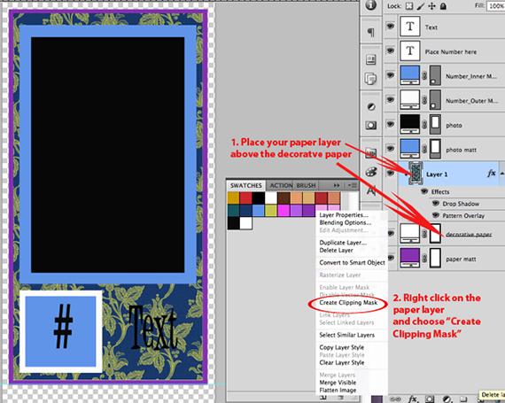 decorate digital scrapbook template