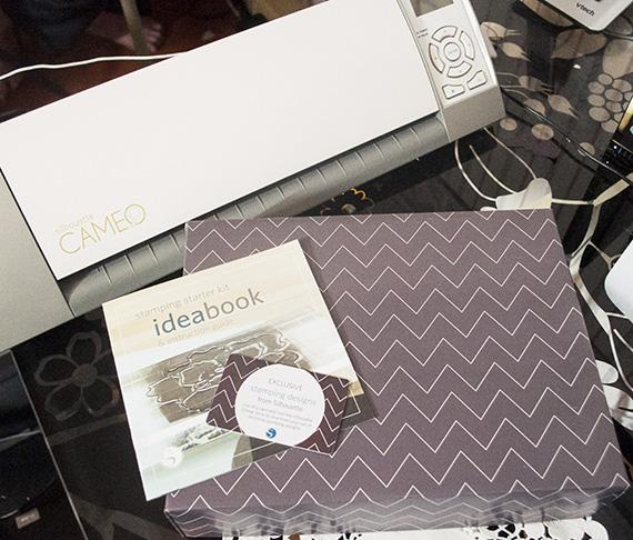 silhouette stamping kit box