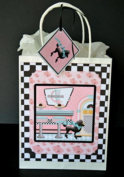50's printable gift bag