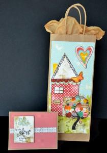 art journal printable gift bag