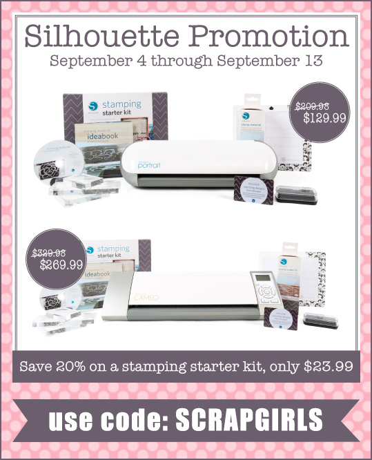 silhouette stamping promo