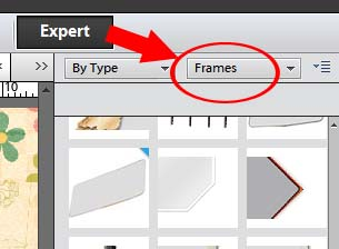 choose frames in drop down menu