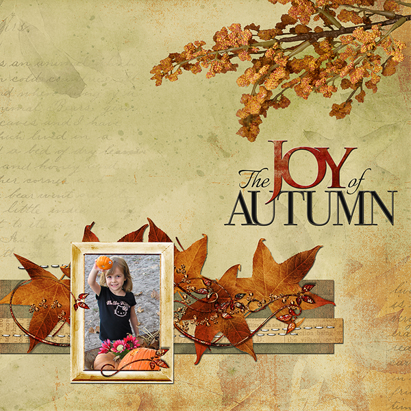 autumn glow digital layout after