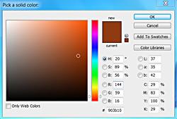 choose a warm toned color