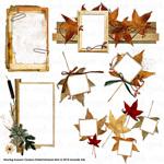 Alluring autumn digital embellishment clusters