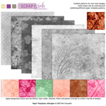 afterglow digital paper templates