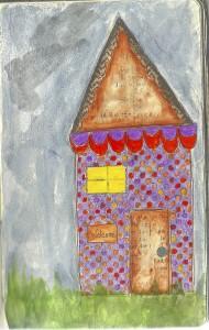 use paint or medium over embellishments