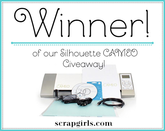 DRUM ROLL PLEASE… the WINNER of our Silhouette Portrait Giveaway