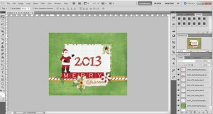 create christmas card display cover