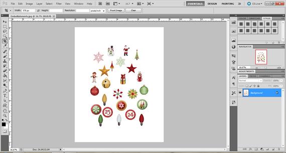 create digital embellishment printable