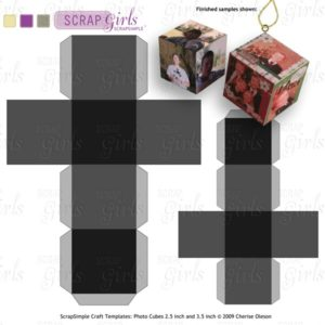 Photo Cube Ornaments