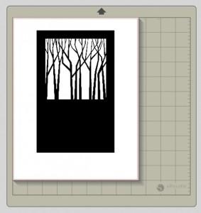 open design in silhouette