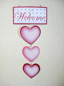valentine hanging hearts wall decor