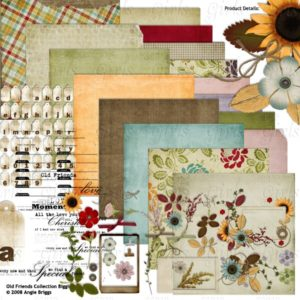 Old Friends Digital Scrapbooking kit