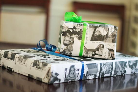 DIY custom wrapping paper