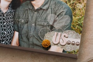 close-up of photo canvas