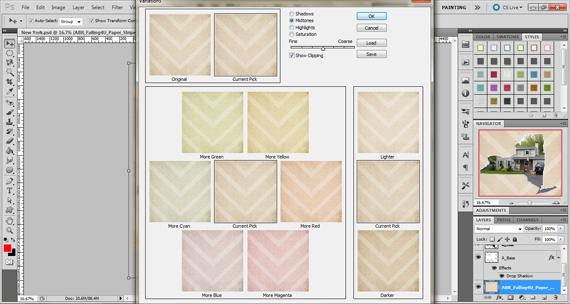 recolor digital paper