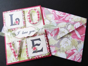 valentines card template sample by Lei Maier