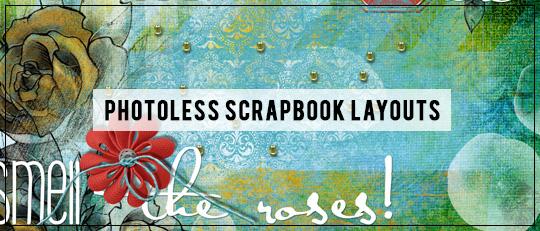 Photoless Scrapbook Layouts