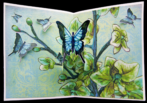 pedestal pop-up butterfly