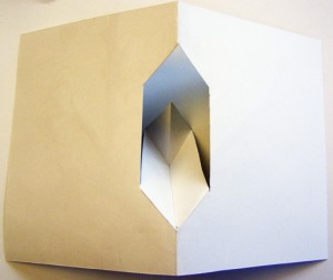 pedestal pop-up fold inset