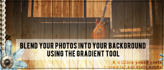 Blend Your Photos Into Your Background Using the Gradient Tool