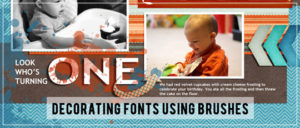 Decorating Fonts with Brushes