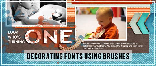 Decorating Fonts Using Brushes