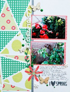 hybrid scrapbook layout using templates