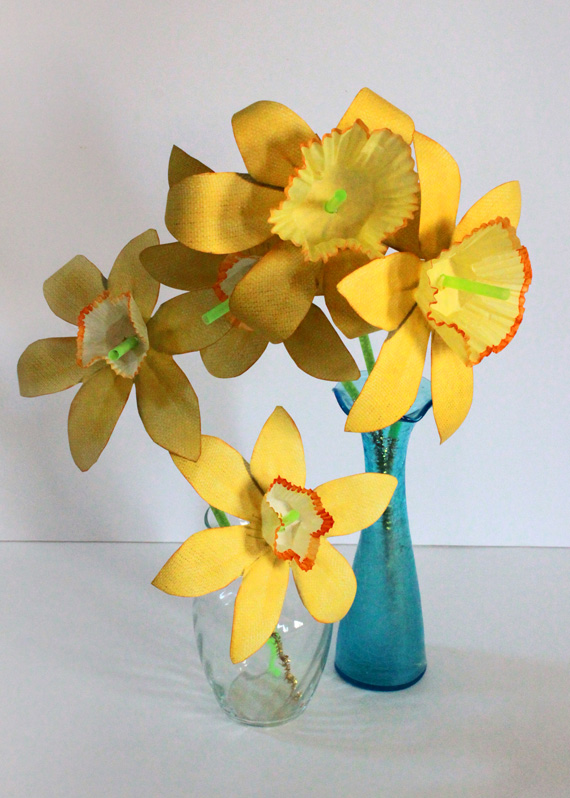 printable paper daffodil bouquet