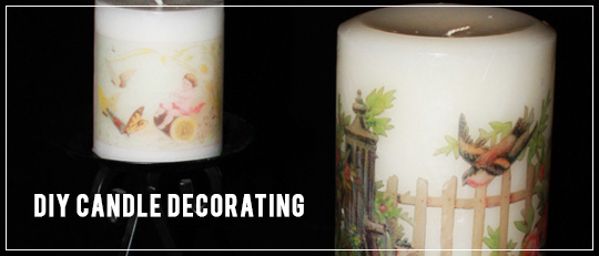 DIY candle decorating