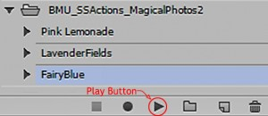 action play button photoshop